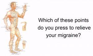 acupressure Migraine symptoms